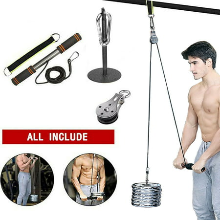 Fitness Diy Pulley Cable Machine System Biceps Triceps Arm Blaster Hand Strength Gym Equipment