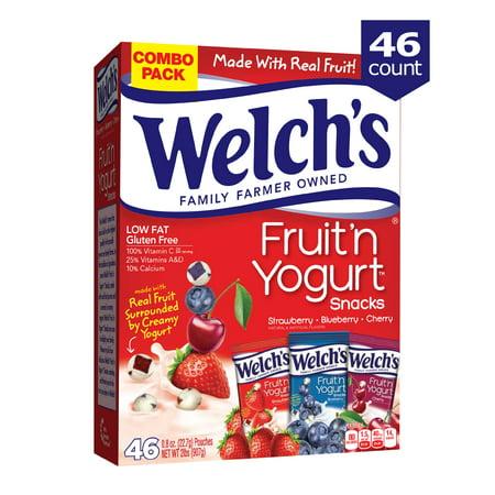 Welch's Fruit Snacks, Fruit 'n Yogurt Variety Pack, 46 Ct (Fruit Yogurt)