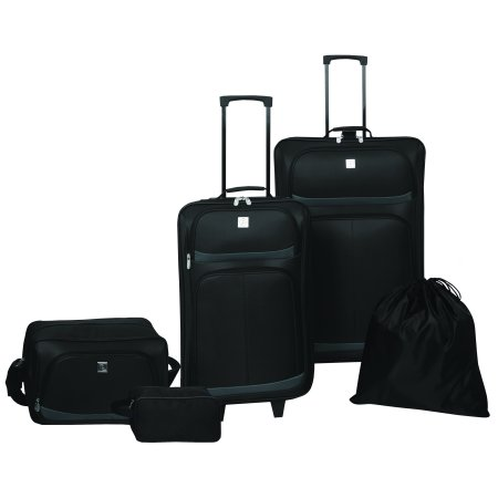 Protege 5 Piece Luggage Set, Black