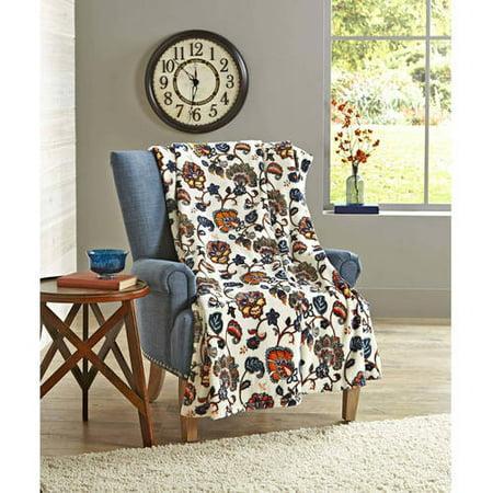 Upc 784857674798 Better Homes Gardens Oversized Plush Throw Multi Jacobean Floral Blanket