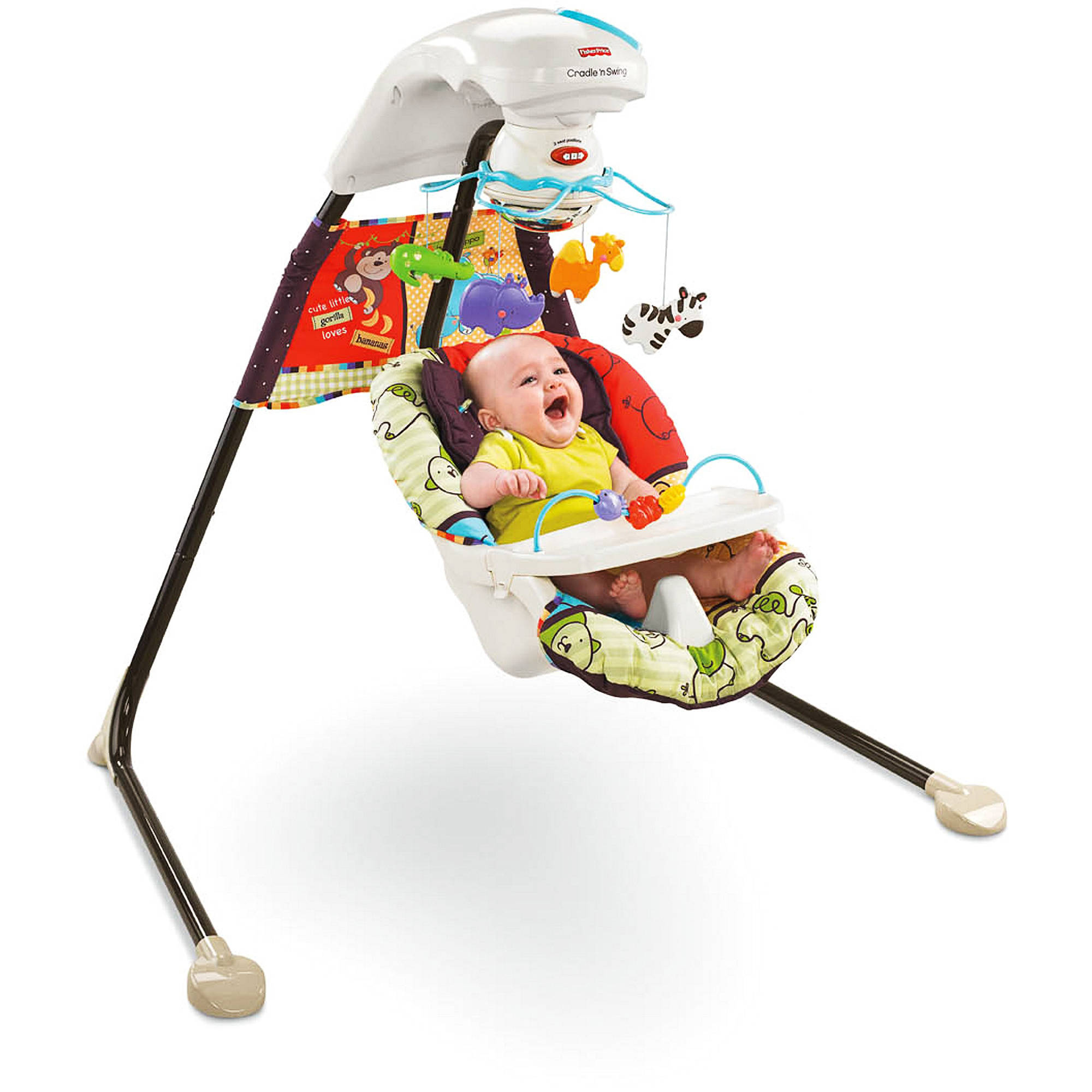 fisher price luv u zoo cradle swing walmart com rh walmart com fisher price rainforest cradle swing weight limit Fisher-Price Baby Swing