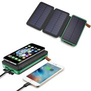 500000mAh Solar Panel Qi Wireless External Battery Charger Portable Power Bank