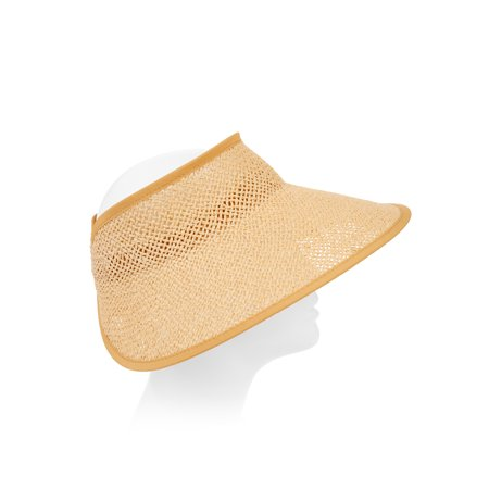 Eliza May Rose Women's Kassidy Roll Up Straw Visor by Eliza May Rose