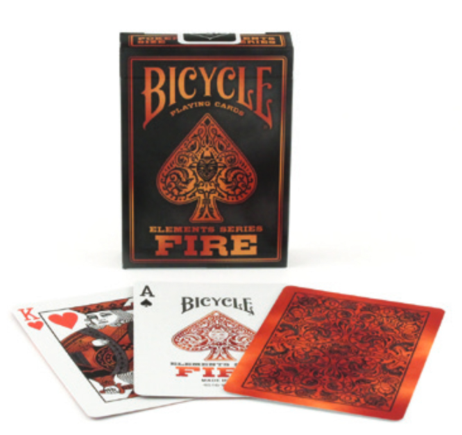Bicycle Fire Element Specialty Playing Cards