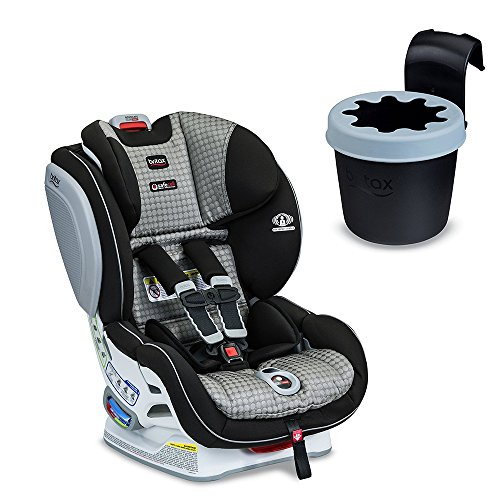 Britax Advocate ClickTight Convertible Car Seat with Cup Holder, Venti, White