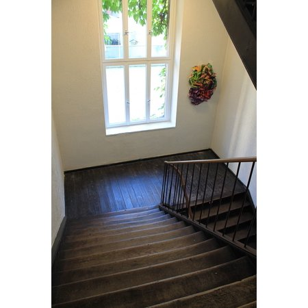 LAMINATED POSTER Staircase Stairs Emergence Window Wood Poster Print 24 x (Print Shop 23-1 Compatible With Windows 10)