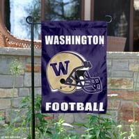 "Washington Huskies Football Helmet 13"" x 18"" College Garden Flag"