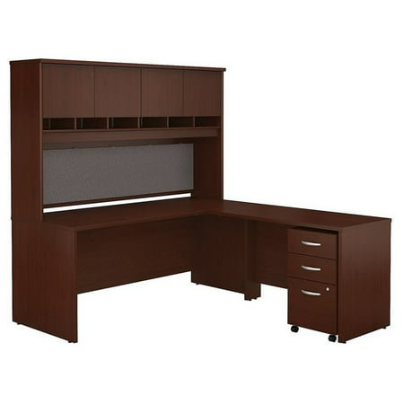 Scranton Co 72 L Shaped Desk With Hutch In Mahogany