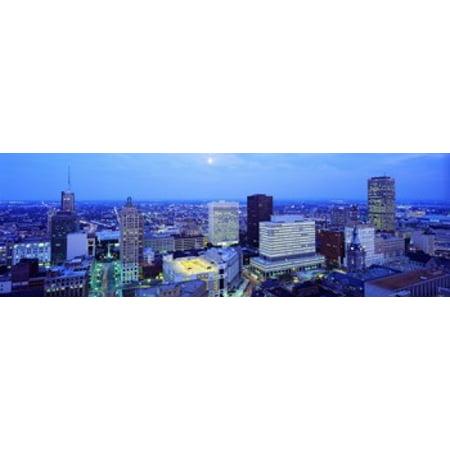 Evening Buffalo New York State USA Canvas Art - Panoramic Images (18 x - Buffalo New York Halloween Events