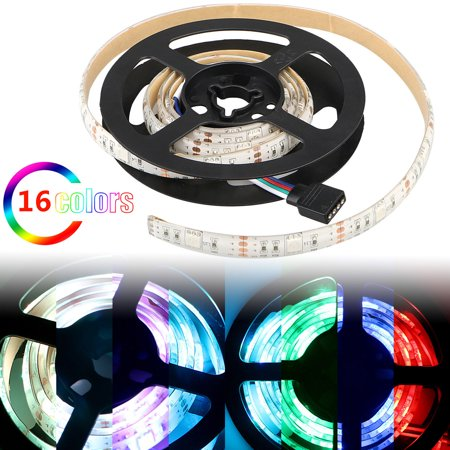 LED Lights Strip, EEEkit TV Backlight LED Strip 5050 RGB LED PC with 24 Keys IR Controller, Also for Home Upstairs Kitchen Porch Halloween Christmas Parties(3.3ft / 6.6ft / 9.9ft) - Porch Light Covers Halloween