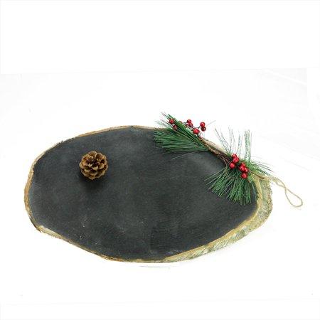 """16"""" Country rustique ovale Chalkboard sur bois de bouleau Décoration de Noël - image 2 de 2"""