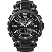 Timex Men's DGTL Analog-Digital 50mm Black Watch, Resin Strap