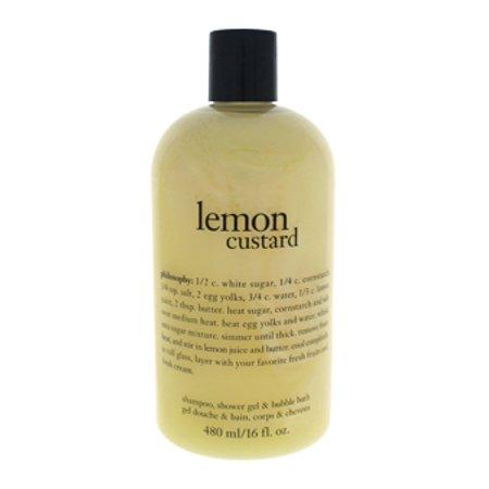 Lemon Custard Shampoo, Shower Gel & Bubble Bath Philosophy 16 oz Bath & Shower Gel For Women Bath Shower Shampoo Gel