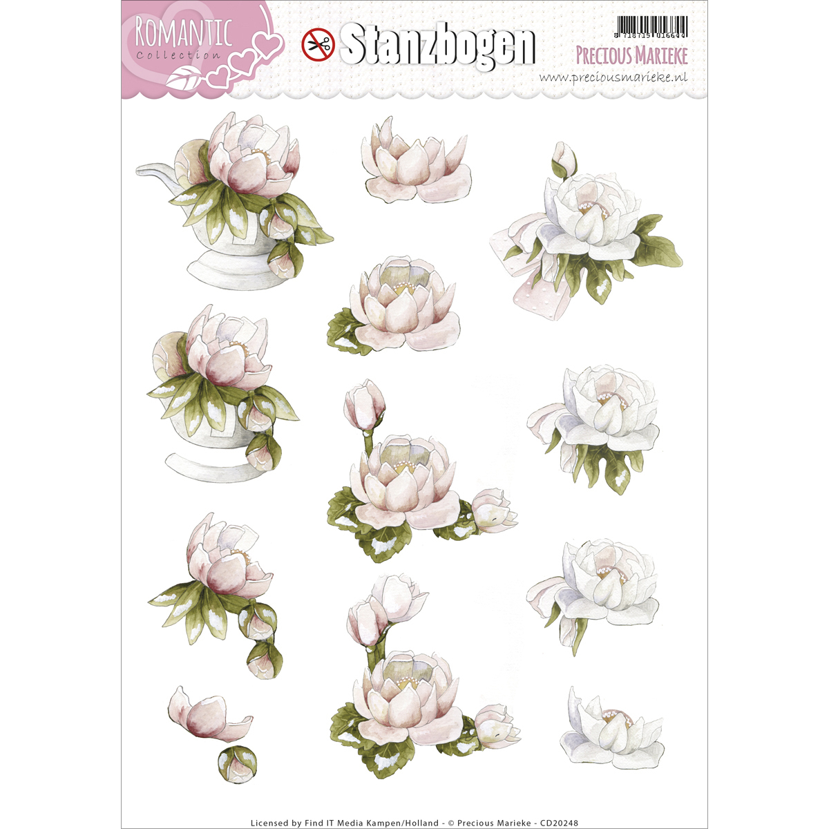 Find It Precious Marieke Romance Punchout Sheet-Flower Bowl & Corsage