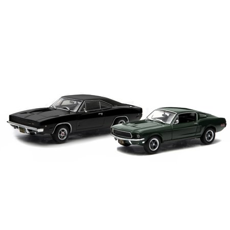 1968 Ford Mustang GT Fastback & 1968 Dodge Charger R/T Black Steve McQueen