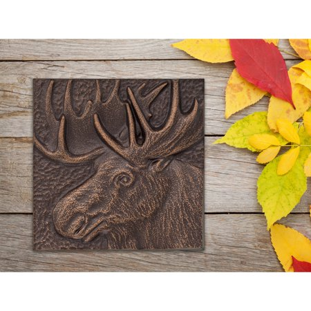 Whitehall 8 in. Moose Indoor Outdoor Wall Decor (Whitehall Traditional Directions)