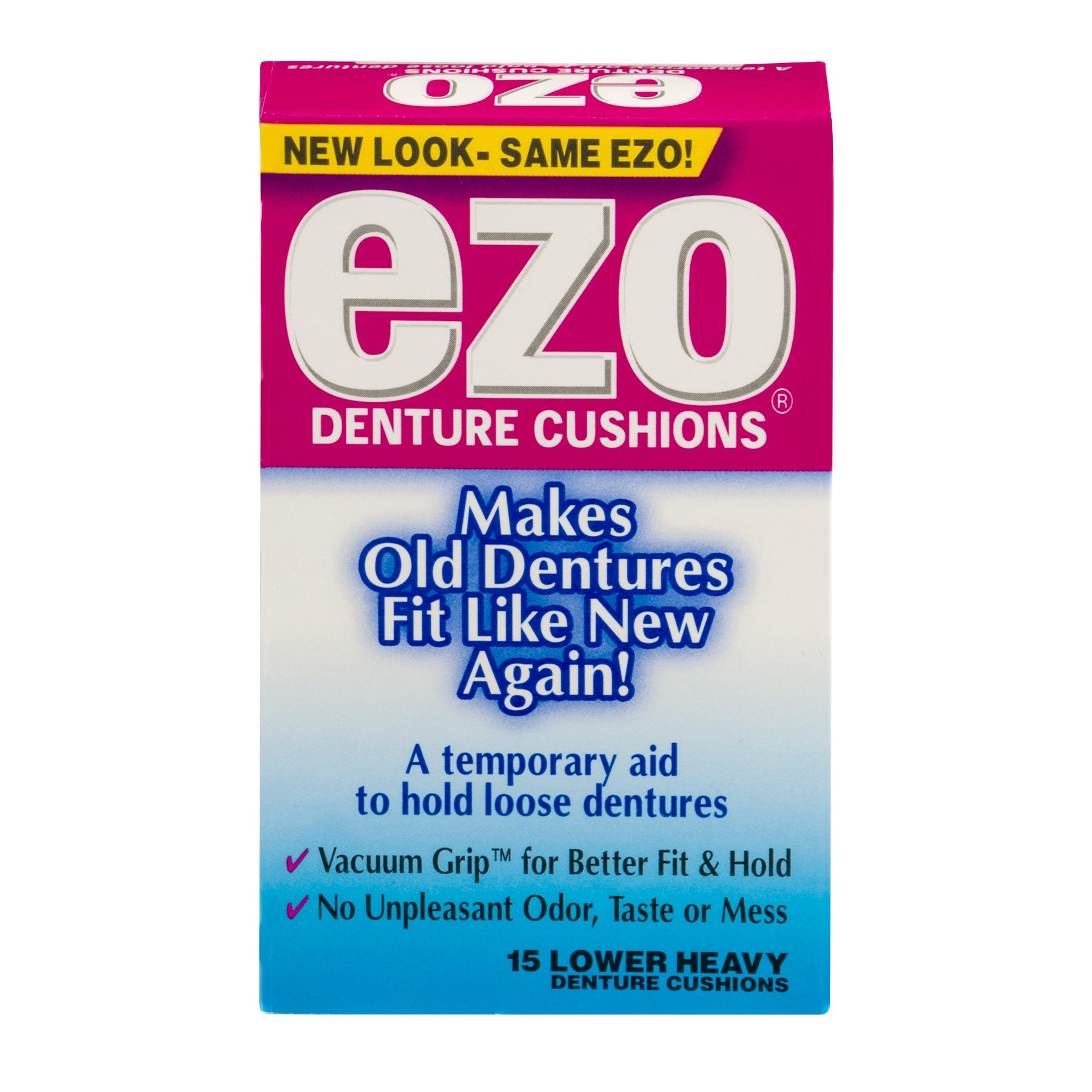 EZO Lower Denture Cushions, 15 Ct