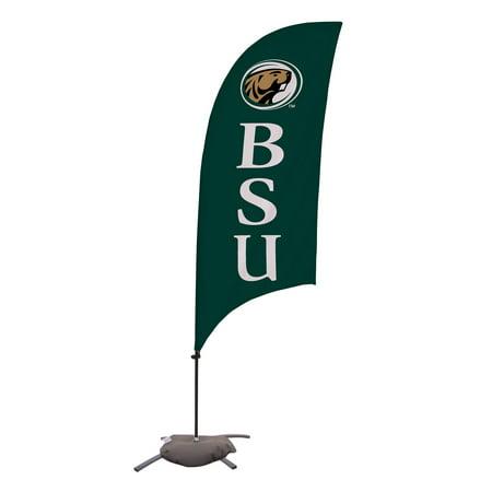 Bemidji State Beavers 7.5' Razor Feather Stake Flag with Base - No Size