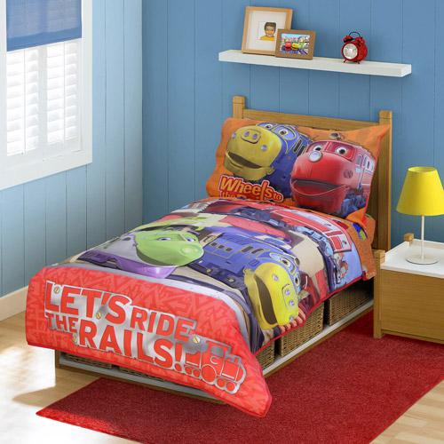 "DISCONTINUED - Chuggington - ""Ride the Rails"" 4-Piece Toddler Bedding Set"