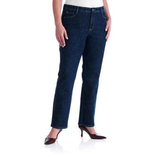 Just My Size Women's Plus-Size Tummy Control Modern Straight-Leg Stretch Jeans