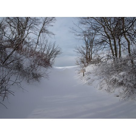 LAMINATED POSTER Winter Scenic Sleeping Bear Dunes Landscape Snow Poster Print 24 x 36 ()