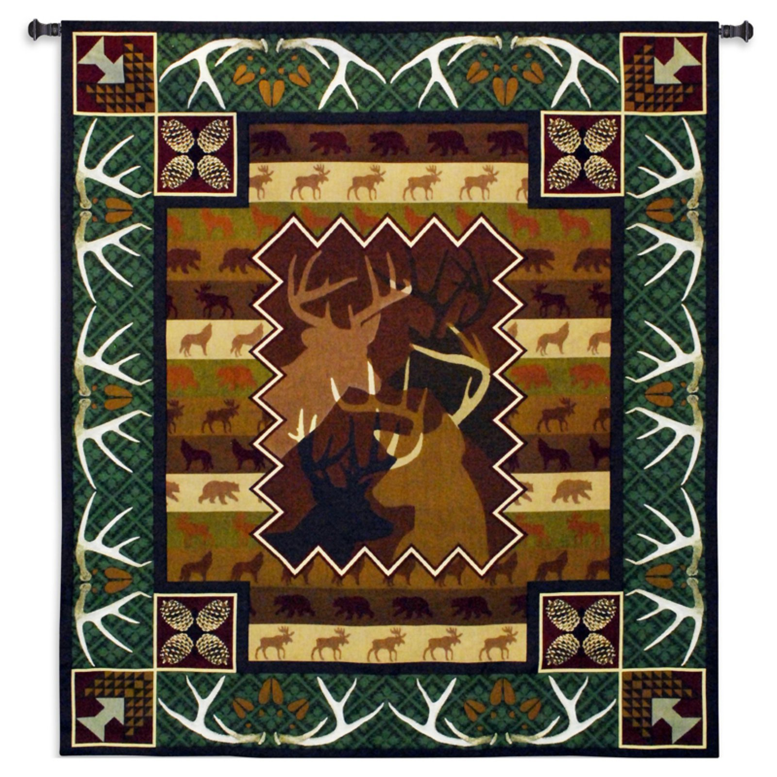 Click here to buy Fine Art Tapestries Antlers Wall Tapestry by Supplier Generic.