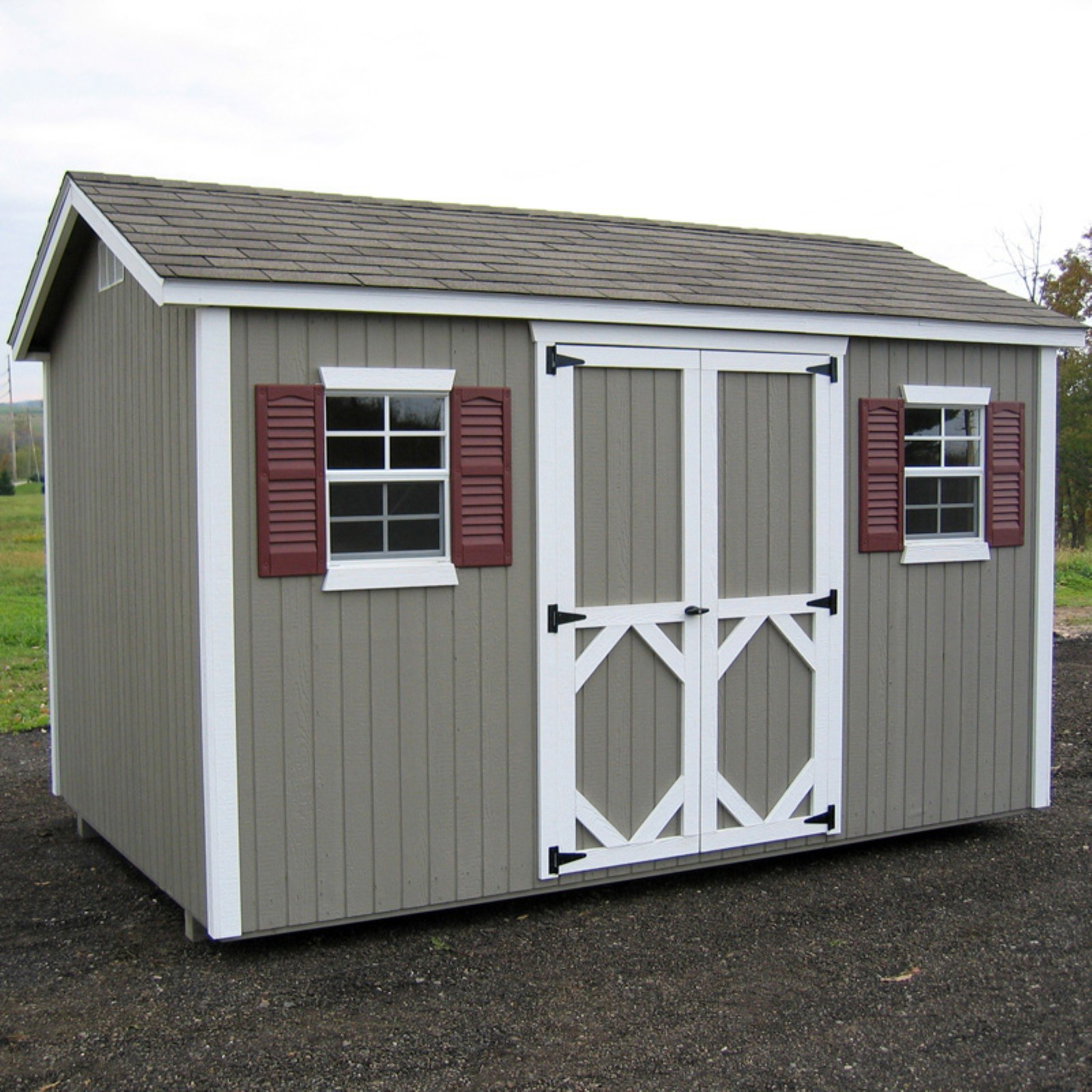 Little Cottage Classic Wood Workshop Panelized Storage Shed with Optional Floor Kit