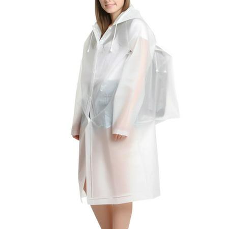 Unisex Raincoat Durable EVA Rain Cape Men Women Rain Poncho with Hat Hood for Outdoor Travel](Hooded Capes For Women)