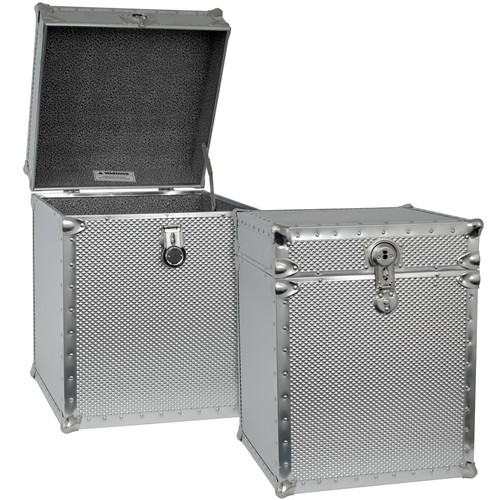 Seward Trunk Embossed Steel Tall Cube Storage Trunk