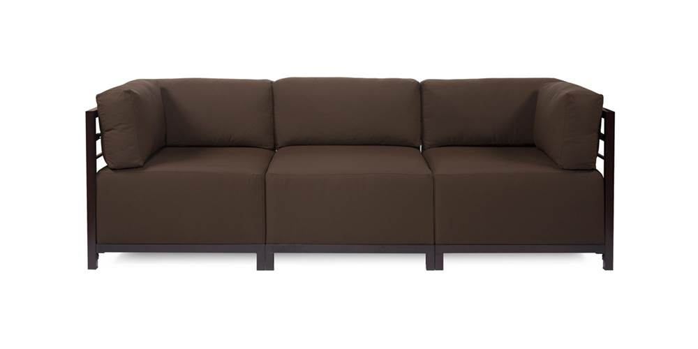 3-Pc Sectional in Chocolate by Howard Elliott Collection