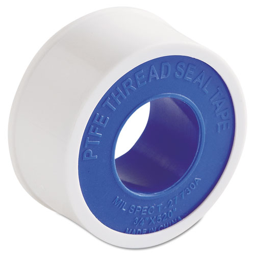 "PTFE Pipe Thread Tape, 3/4"" x 520"", -450°F to 550°F"