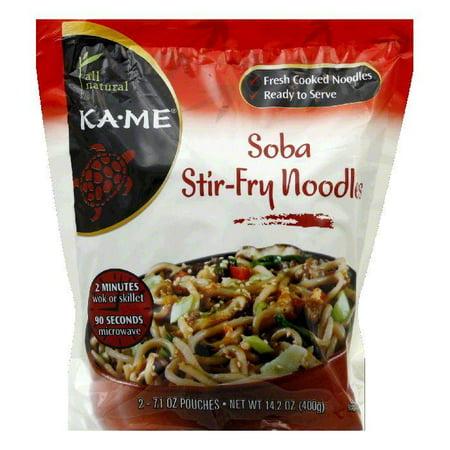 KA ME Soba Stir-Fry Noodles, 14.2 Oz (Pack of 6) (Soba Noodles)