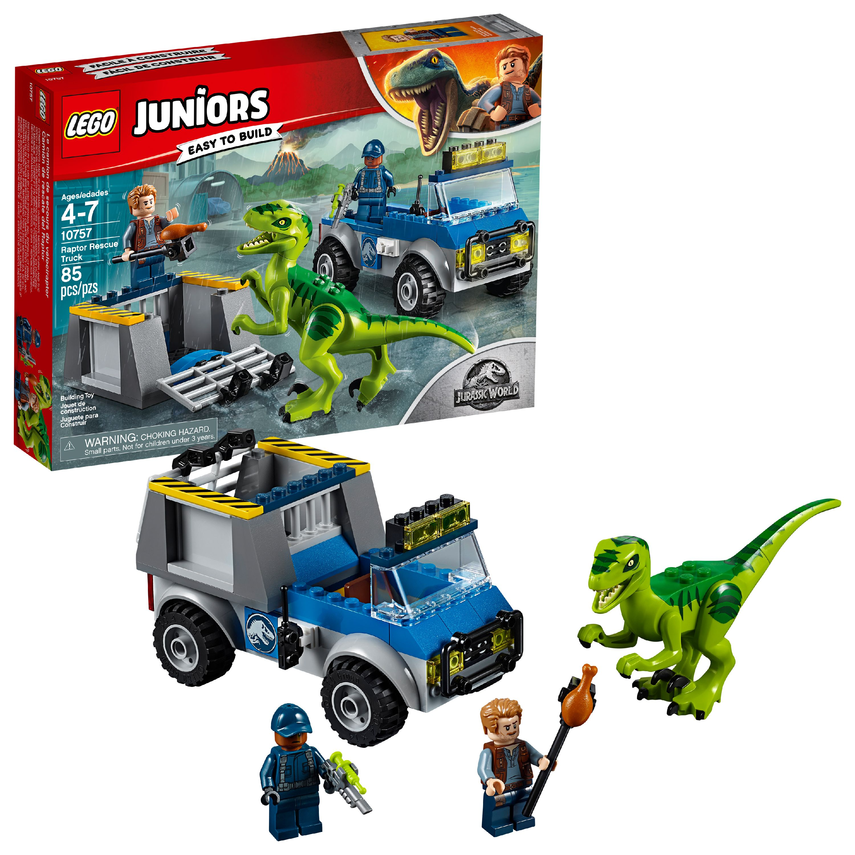 LEGO Juniors Raptor Rescue Truck 10757 (85 Pieces)