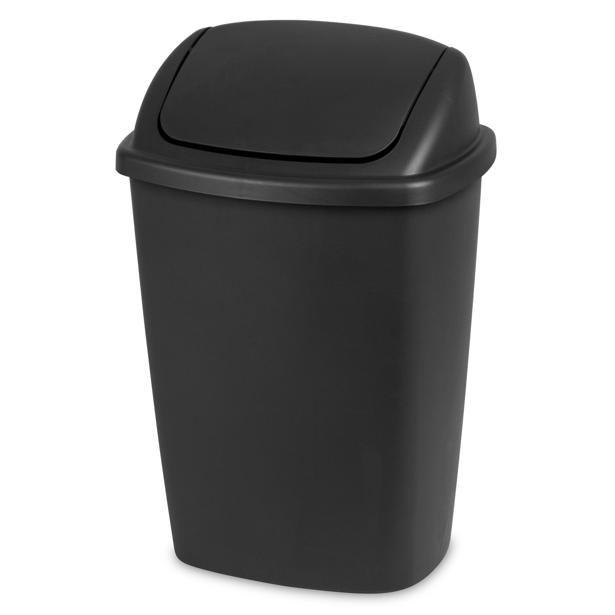 Sterilite, 7.5 Gal. / 28 L SwingTop Wastebasket, Black, Available in Case of 6 or Single Unit