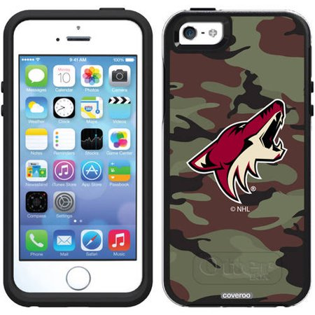 Phoenix Coyotes Traditional Camo Design on OtterBox Symmetry Series Case for Apple iPhone 5 5s by