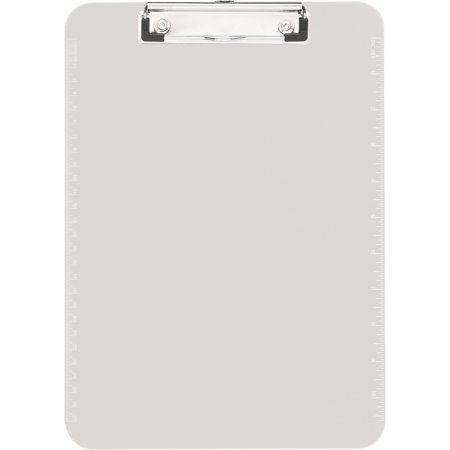 (4 Pack) Sparco Plastic Clipboards with Flat Clip