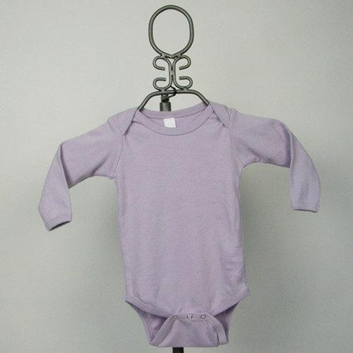 Baby Milano Long Sleeve Infant Bodysuit in Lavender