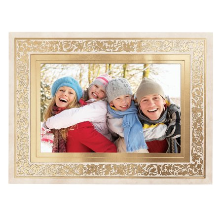 - Regal Borders Ivory Photo Christmas Card, Set of 18