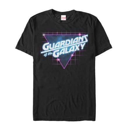 Marvel Guardians Of The Galaxy Retro Logo Mens Graphic T Shirt
