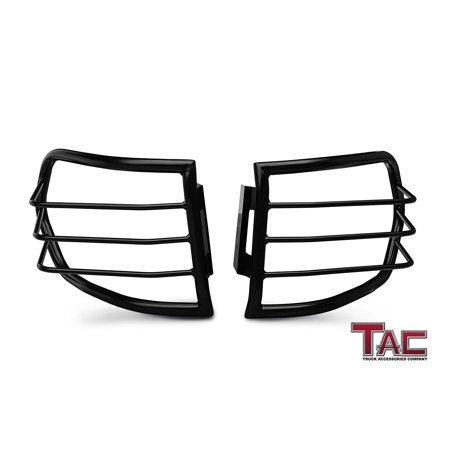 Fj Cruiser Off Road Lights (TAC Tail Rear Light Guards Cover Protector for 2007-2014 Toyota FJ Cruiser TLG Black Taillight – 1)