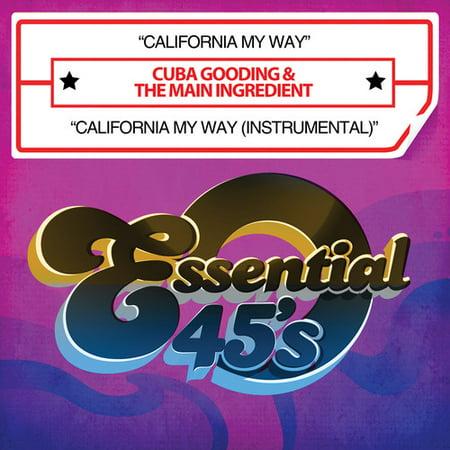 Cuba Gooding & the Main Ingredient - California My Way/California My Way (Instrumental)