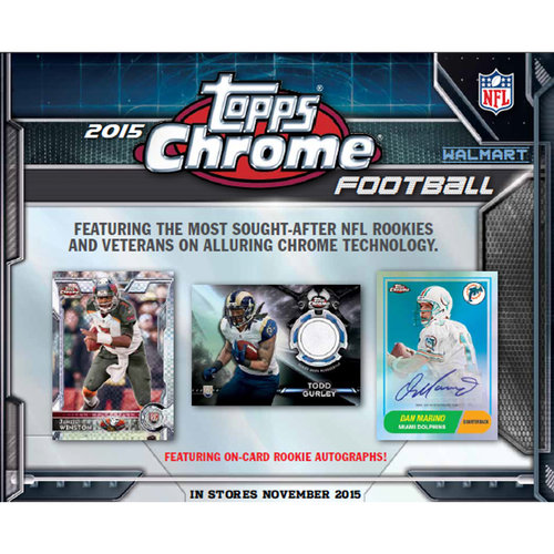 2015 Topps Chrome Football Walmart Exclusive Mega Box