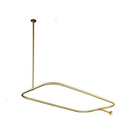 Kingston Brass Cc315 Shower Curtain Rods Vintage Shower Accessories Rectangular Polished Brass