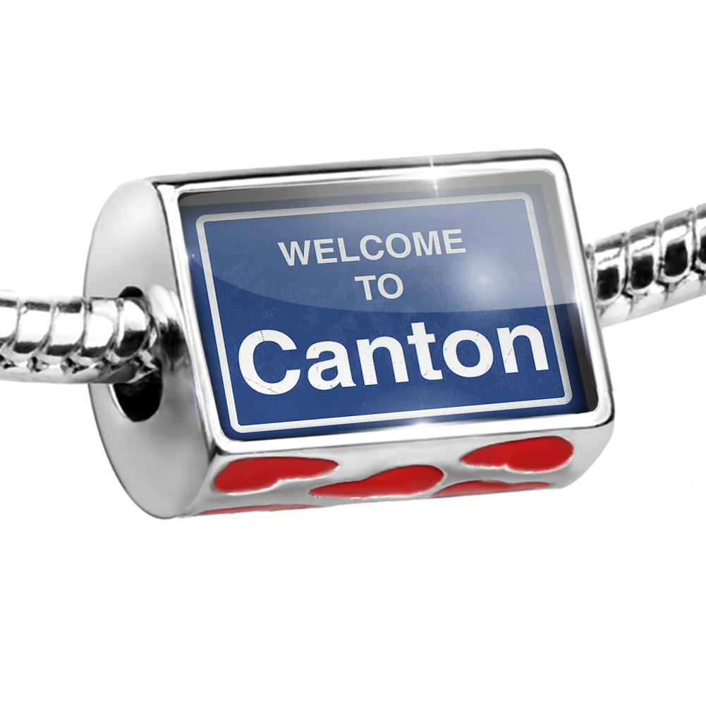 Bead Sign Welcome To Canton Charm Fits All European Bracelets