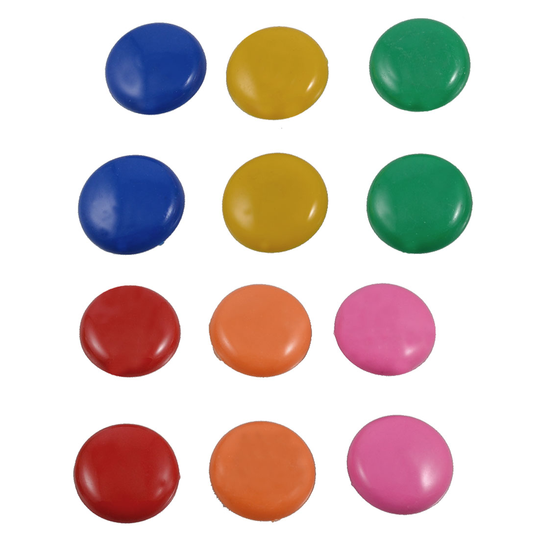 12 Pcs Office Whiteboard Fridge Refrigerator Magnets Buttons Round Shape
