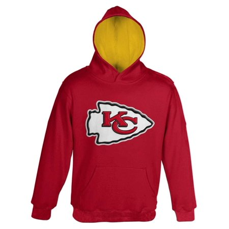 Youth Red Kansas City Chiefs Fan Gear Prime Pullover Hoodie ... 16b85fd3593f
