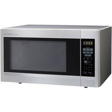 refurbished sharp r 551zs 1 8 cu ft 1100w microwave oven stainless steel. Black Bedroom Furniture Sets. Home Design Ideas