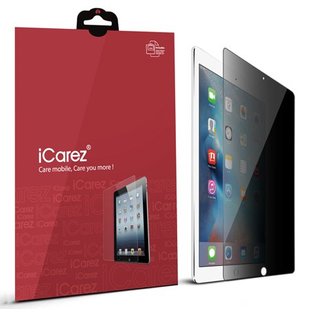 iCarez [4 Way Privacy] Screen Protector for iPad Mini 4 [ Unique Hinge Install Method With Kits ] Easy install with Lifetime Replacement Warranty - Retail Packaging ()
