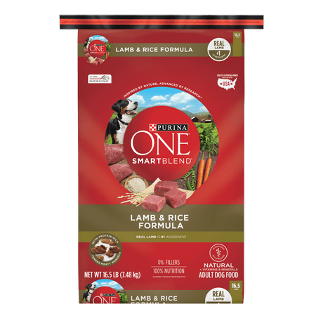 Purina ONE Natural Dry Dog Food; SmartBlend Lamb & Rice Formula - 16.5 lb. Bag - Lamb Dog Costume