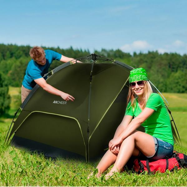 Ecobay 4 Person Camping Tent Family Outdoor Sleeping Dome...